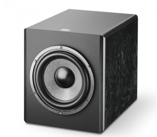 Focal Sub 6BE active Studio Subwoofer, Red Burr Ash