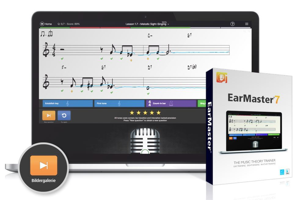 EarMaster 6 Pro 3er Familienlizenz, Box Version
