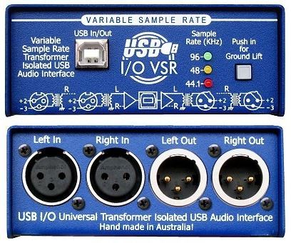 ARX USB-VSR Audio In/Out Interface mit variabler Samplerate