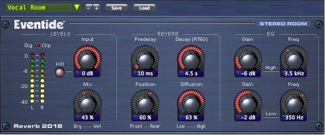 Eventide 2016 Stereo Room PlugIn, Lizenz