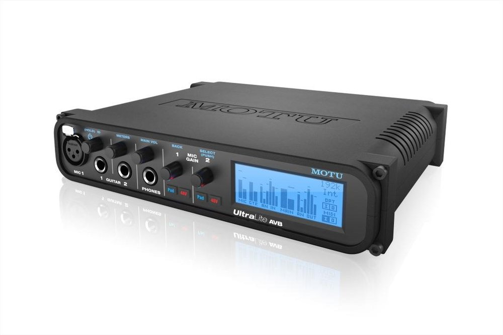 MOTU UltraLite Audio Interface mit AVB Thunderbolt & USB