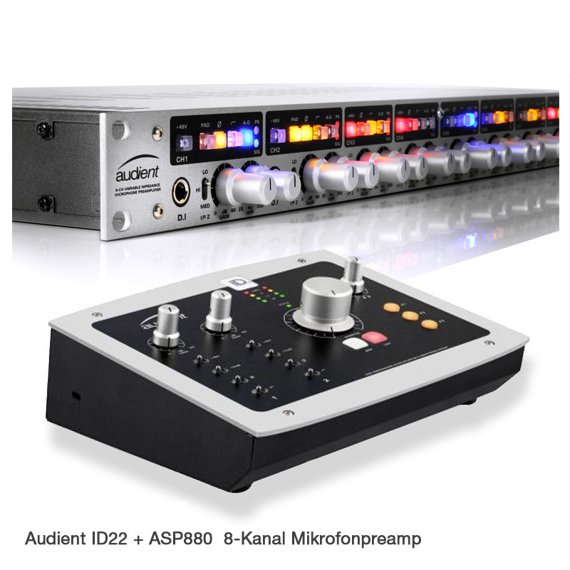Audient iD22 + ASP880 Bundle
