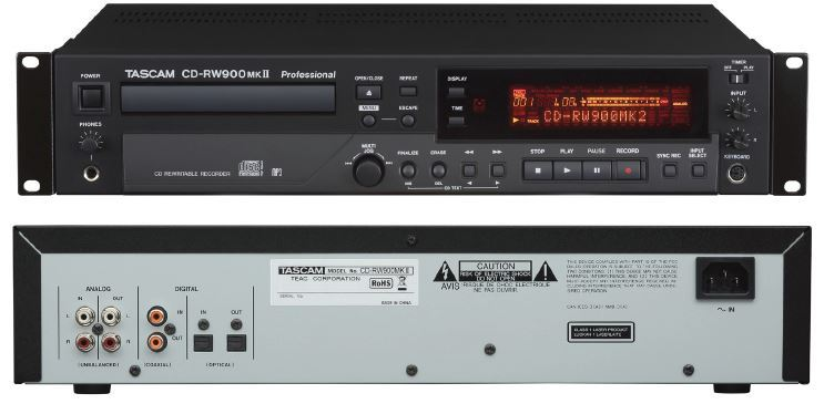 TASCAM CD-RW900 MKII Audio-CD-Recorder